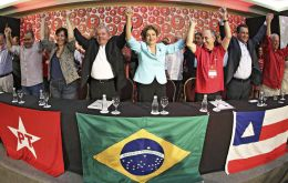 """We are here to show that the Workers' Party is alive and prepared for new challenges. Injured, yes, but alive,"" Lula da Silva said."
