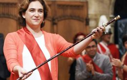 Former labor law judge Manuela Carmena was sworn in Madrid and anti-eviction campaigner Ada Colau (Pic) became the first woman major in Barcelona