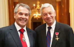 The OBE insignia was presented to Thomas Petri by British Ambassador Sir Peter Westmacott, on behalf of Her Majesty Queen Elizabeth II