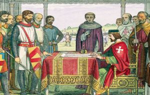 Magna Carta was first agreed by King John on 15 June 1215