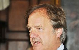 Foreign Office Minister Hugo Swire MP delivers his speech