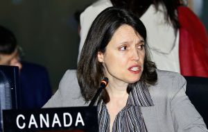 "Ottawa was in disagreement. ""The Canadian delegation does not wish to associate to the text"" said Canadian official Jennifer Loten."