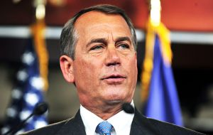 """I respect his right to speak out on these important issues"" cautiously commented Republican John Boehner, a Catholic and head of the Lower House"
