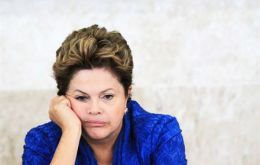 A shrinking economy and inflation running at an 11-year high have raised popular discontent with President Dilma Rousseff