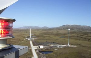 In the Falklands up to 40% of power is produced with wind turbines, an experience that has been building up with plans to continue