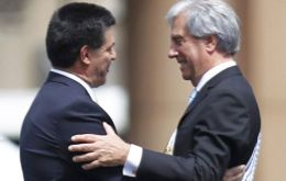 Horacio Cartes was in Montevideo last March when the inauguration of President Tabare Vazquez
