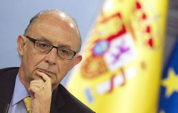 "Spain treasury minister Cristobal Montoro, said Spain has ""more than sufficient reason"" to view Gibraltar as a tax haven."