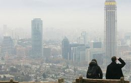 Santiago de Chile high pollution levels
