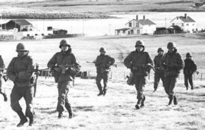Argentina in 1982 illegally imprisoned a number of innocent civilians, deported a number of people, and set about changing established lifestyles of Falkland Islanders.