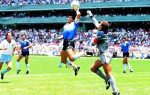 "In Chile Jara's gesture has been dubbed ""the finger of God"", echo of Argentina captain Diego Maradona's infamous ""hand of God"" goal in 1986 World Cup."
