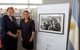 Argentine Ambassador Alicia Castro with Dame Rosemary Butler, Presiding officer from the National Assembly of Wales