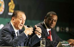The list includes former CONCACAF president Jeffrey Webb and FIFA vice-president Eugenio Figueredo from Uruguay (L)