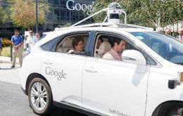 Dilma met with Google executive chairman Eric Schmidt, who showed off one of the company's self-driving cars before sending her on a test drive.