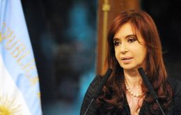 """Nobody can be asked to sign their own death certificate. The words of President Nestor Kirchner in 2003 still resound"", said Cristina Fernandez"