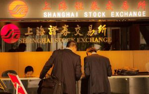The Shanghai Composite was up 2.6% to 3,783.69 after the government announced measures over the weekend to stabilize the tumbling stock markets.