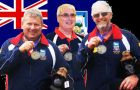 Proud Falklands competitors Dave Peck, Mark Lewis and Graham Didlick won silver medals (Pic C. Eynon by PN)