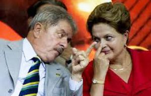 "Regarding criticism by Lula da Silva, Rousseff said she respects all opinions of her political mentor: ""He has every right to say where he is and where he thinks I am."""
