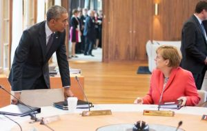 "Obama and Merkel noted that ""their economic teams are monitoring the situation in Greece and remain in close contact"" said spokesperson Earnest"