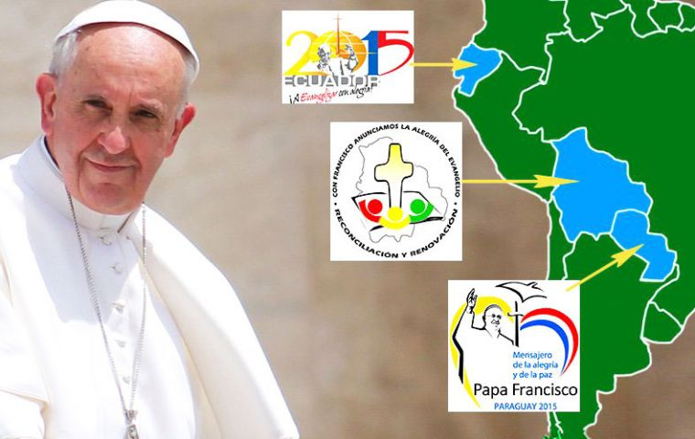 """Fight for inclusion at all levels,"" implored Francis, while pleading for ""dialogue"" on the third day of a tour that also includes Bolivia and Paraguay."
