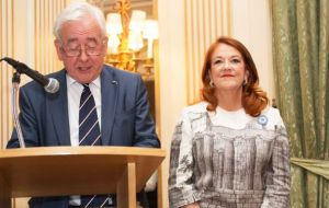 Ambassador Castro with Lord Wigley, a Welsh political figure and chairman of the organizing committee for 150th anniversary celebrations