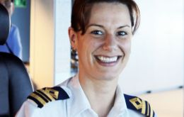 Kate McCue, 37, has been elevated to the position of Captain based on her 15 years of experience and leadership in the maritime industry.