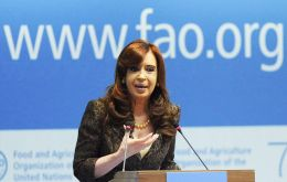 "Cristina Fernandez graciously told the world at last month's FAO assembly in Rome: ""poverty in Argentina is below 5%""."