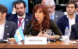 """As responsible leaders, we cannot stop noticing the challenges we have ahead,"" Cristina Fernandez said stressing the need to address destabilization attempts"