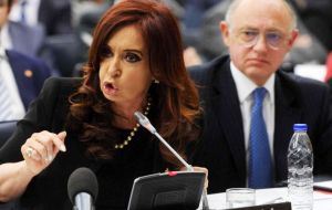 Cristina Fernandez refers to Falkland Islanders as 'squatters' and foreign minister Timerman argues Falklands' people as such do not exist