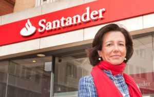 "Ana Botin, Santander chairman, said the first-half results showed the ""soundness and consistency"" of the bank's business model"