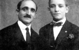 Mario Jose Francisco Bergoglio (R), the pope's father, had come to Argentina from Italy's Piedmont region with his parents and five siblings in 1928
