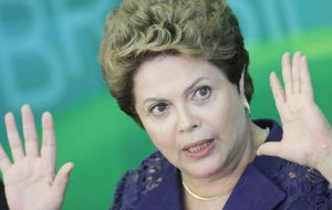 The strong reaction in the money exchange market followed the announcement by Rousseff that the 1.2% budget primary surplus was to be lowered to 0.15%.