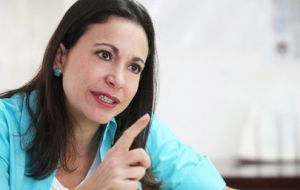 Ex-congresswoman Maria Corina Machado said the Elections Council had rejected her attempt to register for the Dec. 6 elections