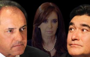 Scioli finally managed to receive the blessing from Cristina Fernandez as her candidate, but had to complete the ticket with Carlos Zannini