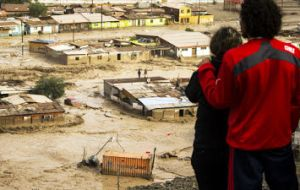 In just three hours, Tocopilla, a town of some 20,000 in Chile's arid far north, registered as much rain as has fallen there in the last seven years.