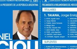 Filmus figured in the fourth place of the Victory Front list, behind Jorge Taiana and current ministers of Culture, Teresa Parodi and Defense, Agustin Rossi.