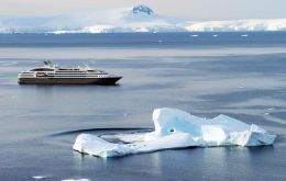 There will be one new ship to South Georgia in the coming season, Le Lyrial, sister ship to this one, L'Austral.
