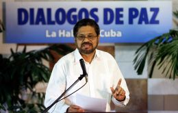 "FARC's Ivan Marquez said in Havana that ""we want to give a heartfelt greeting to Pope Francis. We hope to have this opportunity."""