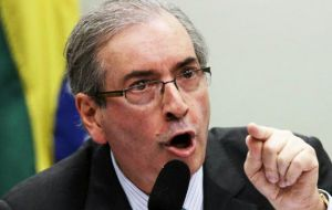 Cunha, according to the witness, accepted $5 million between 2006 and 2012 in exchange for his help in obtaining a contract to build vessels for Petrobras