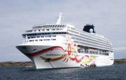 The Norwegian Sun will make its first visit on December 10 with up to 1,936 passengers on board.