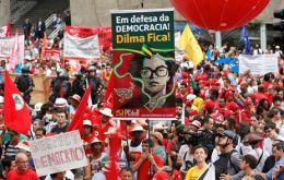 Organizers said some 172,000 people turned out around the country in more than two dozen cities. Police 70.000 in Rio and 40.000 in Sao Paulo