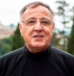 """Padre Benedettini ha said che """"la foto has been scattata dal contesto Durante l'udienza generale a cui molte PERSONE Danno Elementi al Santo Padre""""."""