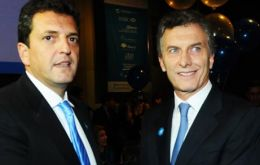 Sergio Massa ruled out the possibility of establishing a broader alliance ahead of October's elections with Buenos Aires City mayor Mauricio Macri.