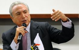 """There's a need for national unity if we are to have social peace. The antagonism we see in the streets cannot go on,"" Temer said"