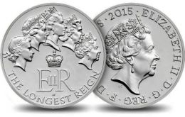 The special issue £20 coin has the Queen's current portrait on one side and five portraits of the Queen throughout her reign on the other side.