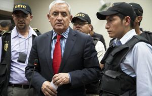 Perez Molina will be the highest-level Guatemalan official to stand trial in the fraud scheme, which already has led to several other officials' arrests