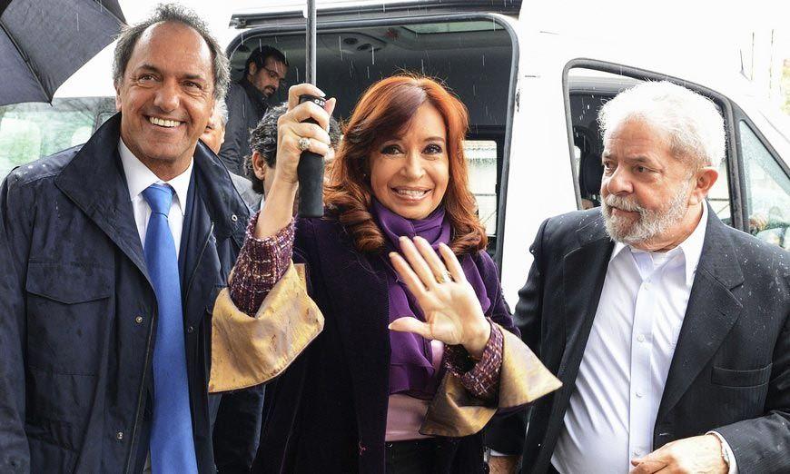 Lula Da Silva, junto a Scioli y Cristina Kirchner