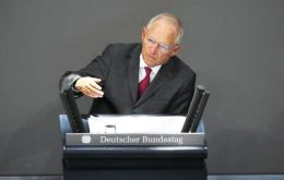 """We should take on board the lessons of the last crisis,"" said finance minister Wolfgang Schaeuble in his Budget speech"