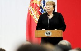 """We need to tear down the walls of silence that block us from advancing ... I will make sure justice is the same for all. It's a personal commitment,"" said Bachelet"