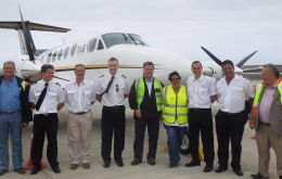 The aircraft crew comprised Captain Grant Brighton, Co-pilot and First Officer Dillan Van Niekerk, Chief Aircraft Engineer Jeffrey McKenzie (all of TAB Charters, SA) together with FCSL Chief Pilot, St