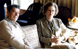 """I would go with Ronald Reagan's partner, Margaret Thatcher"" he said, noting it was ""probably illegal"" and unlikely to happen because she is not American."
